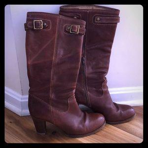 Authentic Coach cognac leather boots